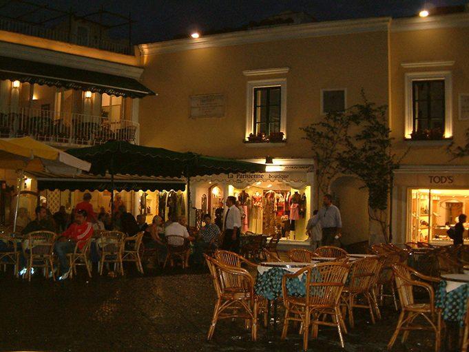 Capri square by night