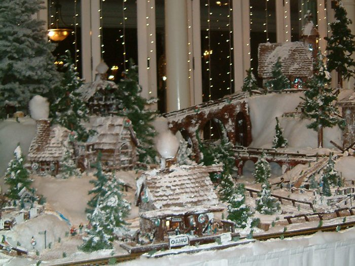 Winter Toy Village In Moana Surfrider