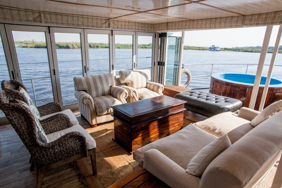 Ichobezi Safari River Boat Living Area