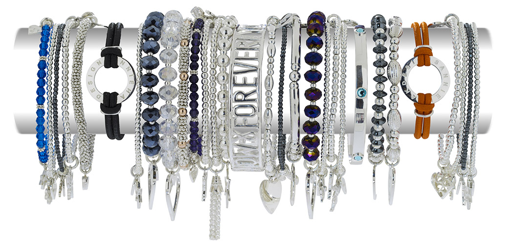 Silver Stacking Bracelets from Annie Haak