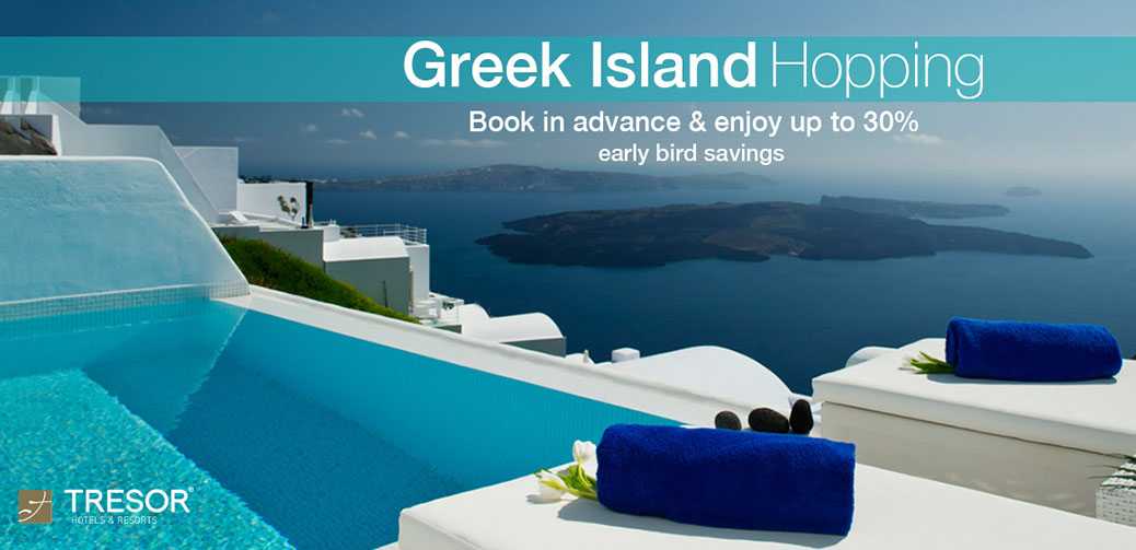 30% Off Greek Island Hopping with Trésor Hotels