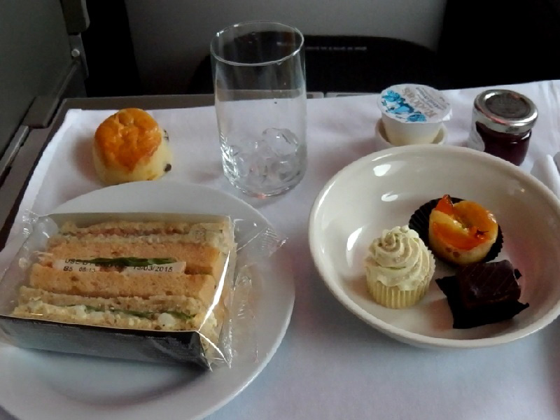 British Airways Club World Food Menu