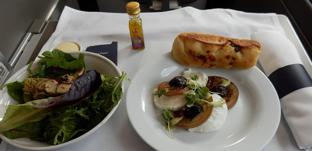 British Airways Club World Food Menu