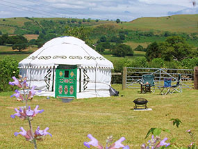 2 nights in a yurt at Barnutopia in the Welsh Borderlands