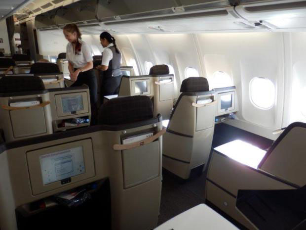 Swiss Airlines Long-haul Airbus A340 Business Class Review