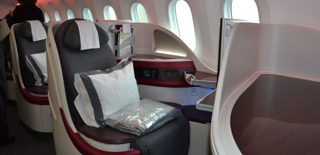 Best Business Class Seats On Qatar Airways B787 Dreamliner