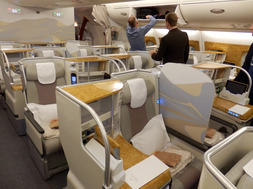 Emirates airbus a380 business class seating plan