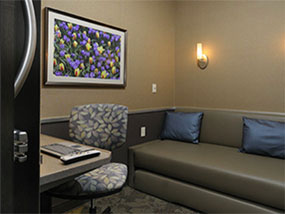 2 hour stay at Minute Suites (available in 3 US airports)