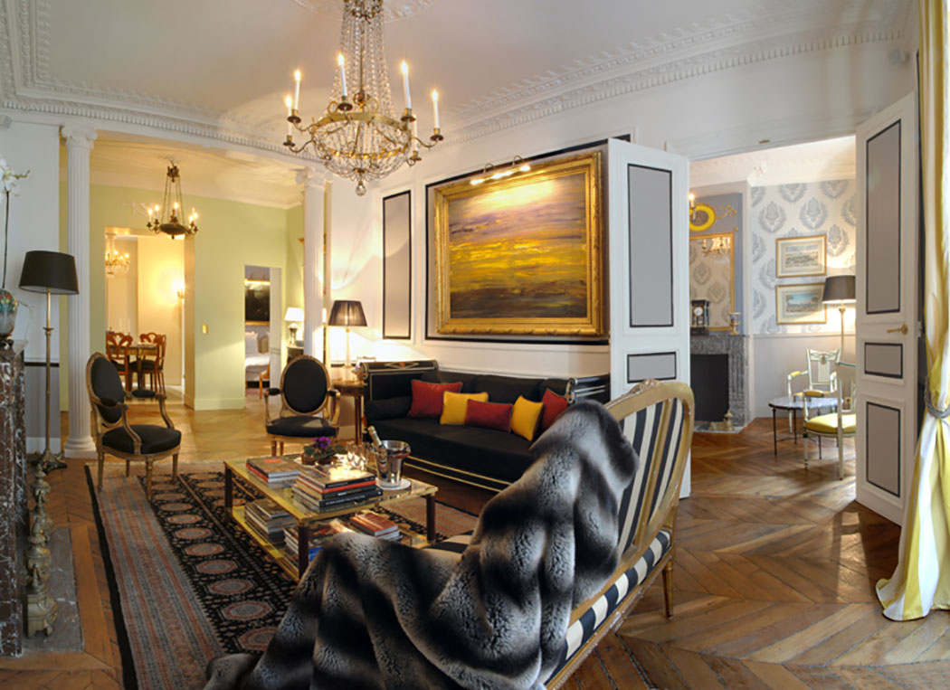 Unique Interior Design Apartments In Central Paris