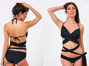 Mavele Swimwear Black Halterneck Wrap Bikini £80