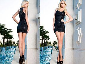 Vero Milano Bodycon Style Black Mini Dress Size Small