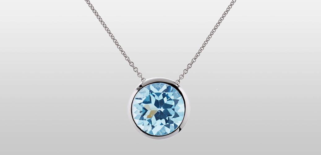 Win A Juliet Blue Topaz Necklace From Manja Jewellery