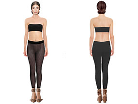 One pair of MARIE HELL Netted Leggings in Small RRP$78