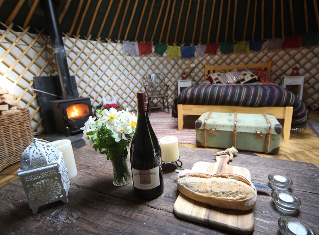 Glamping At Netherby Woodland Yurt in Cumbria