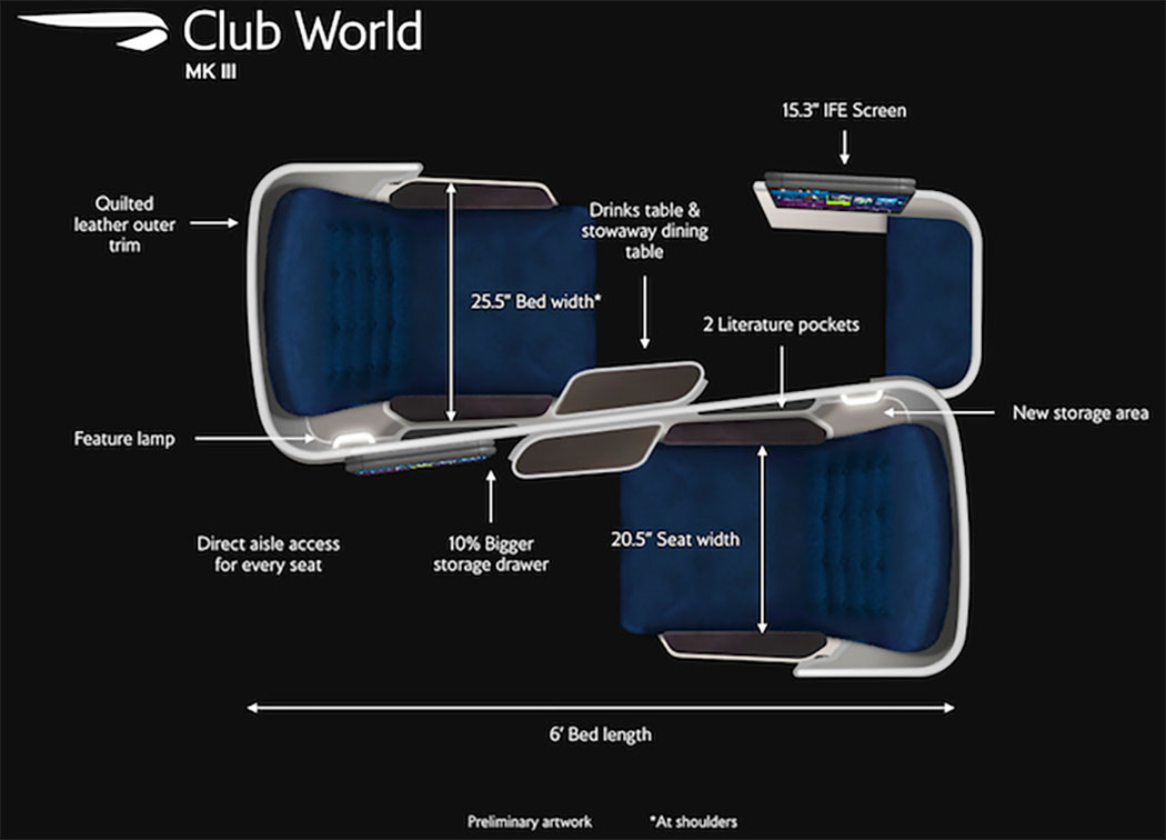 British Airways Airbus A350-1000 Business Class Seats