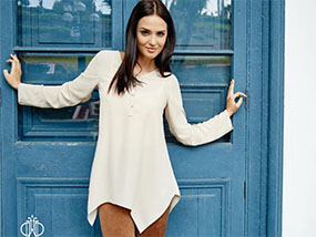 Forever We Dream Knit Button Front Tunic in Medium RRP$120