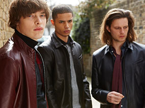 A Cameron Charles leather jacket worth £840 / USD$1,225