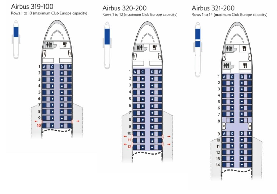 Best Club Europe Seats On British Airways A320