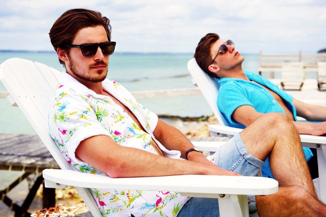 Retro Terry Towel Beach Shirts From London
