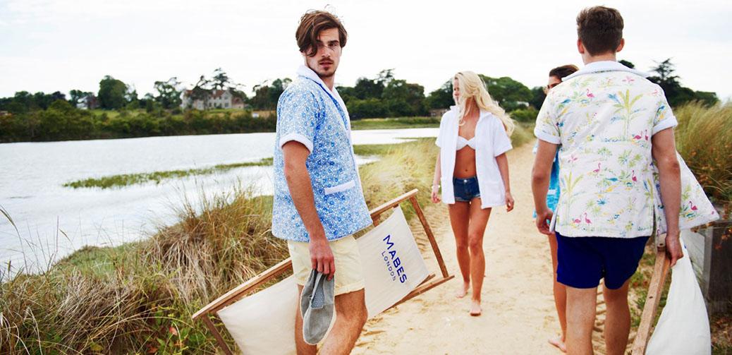 Retro Terry Towel Beach Shirts From London