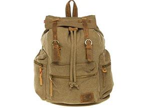 CastlePak Canvas & Leather Vintage Backpack RRP£60