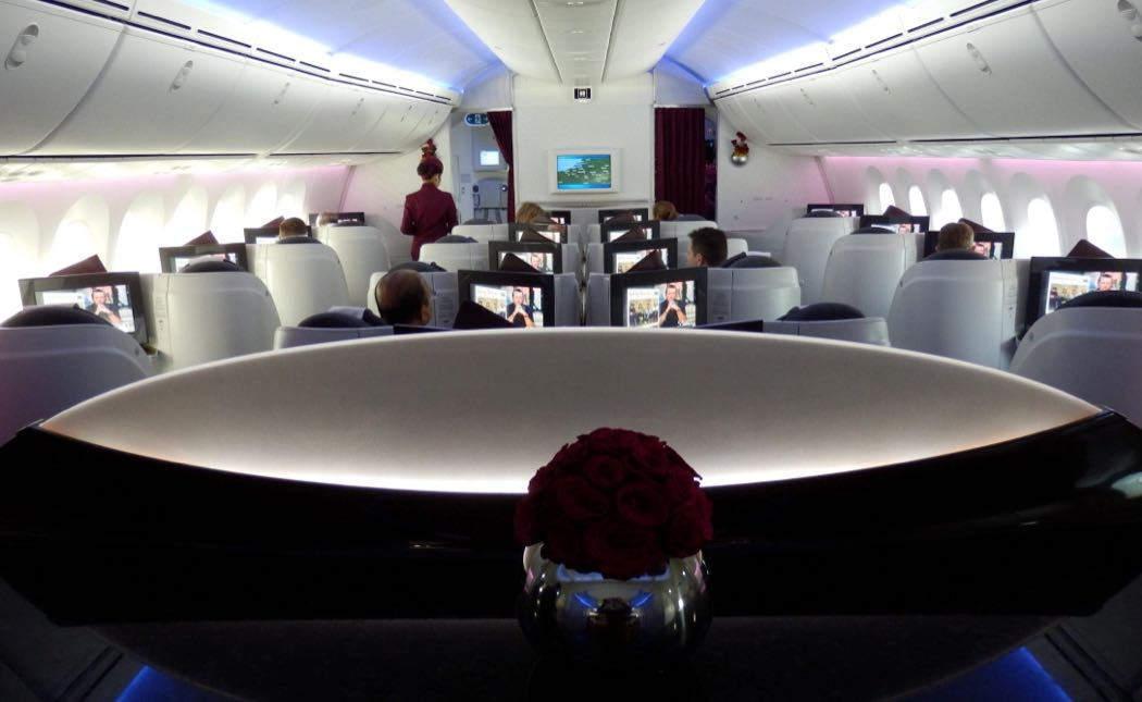 Qatar Airways Boeing 787 Dreamliner Business Class Review