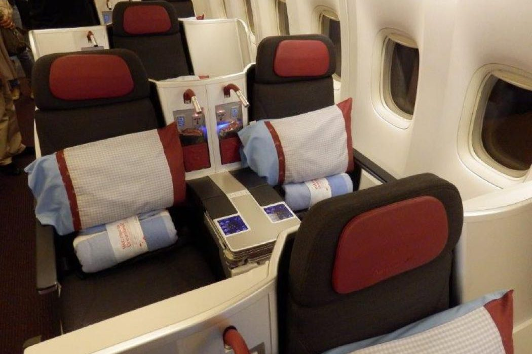 Austrian Airlines B777 Business Class Review Bangkok to Vienna