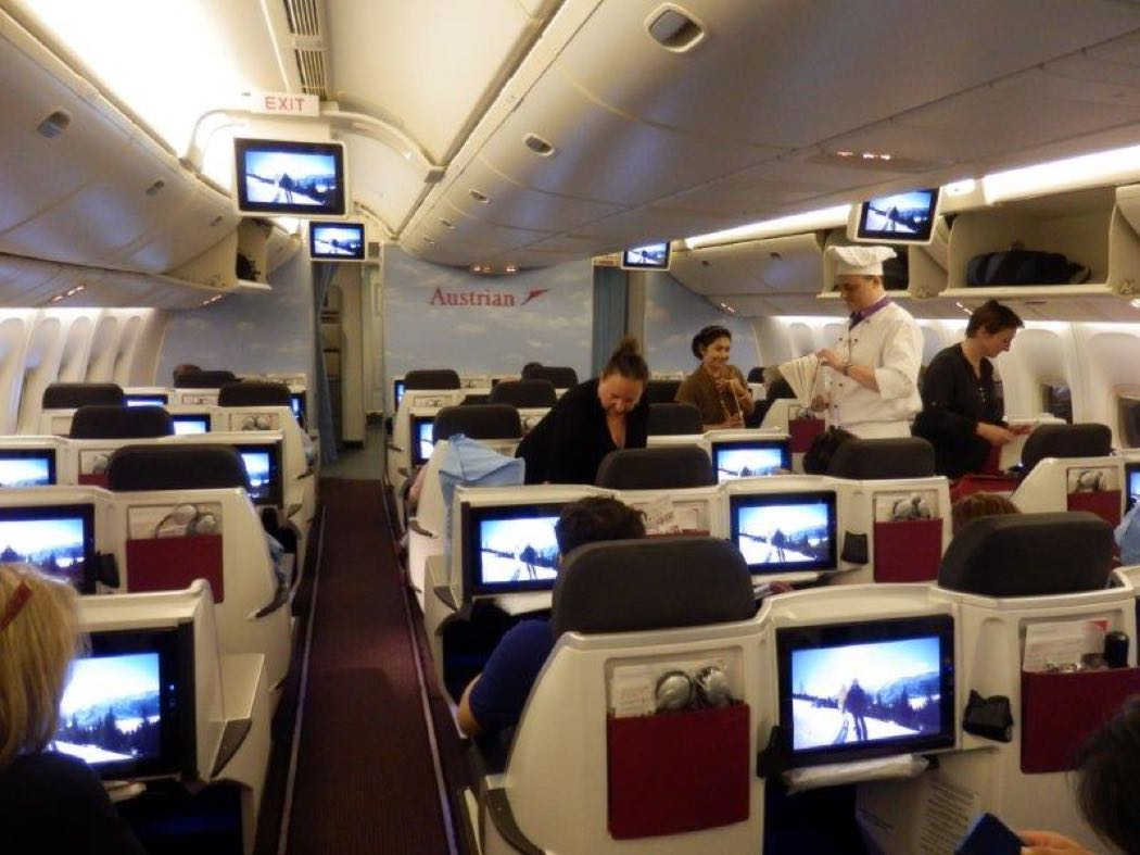 Austrian Airlines B777 Business Class Review