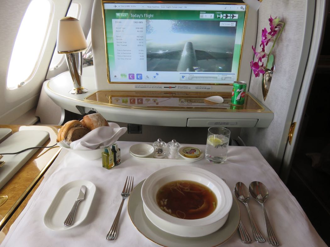 Emirates Airbus A380 First Class Flight Review Airlines