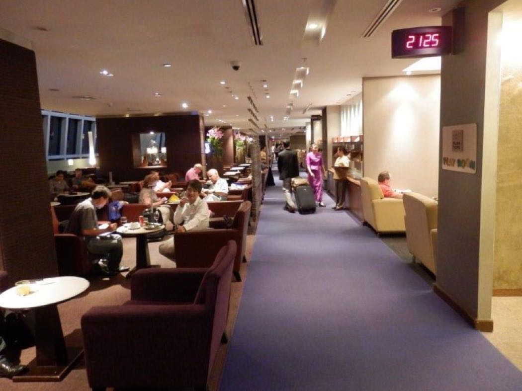 Thai Airways Royal Silk Business Class Lounge Review, Bangkok Airport