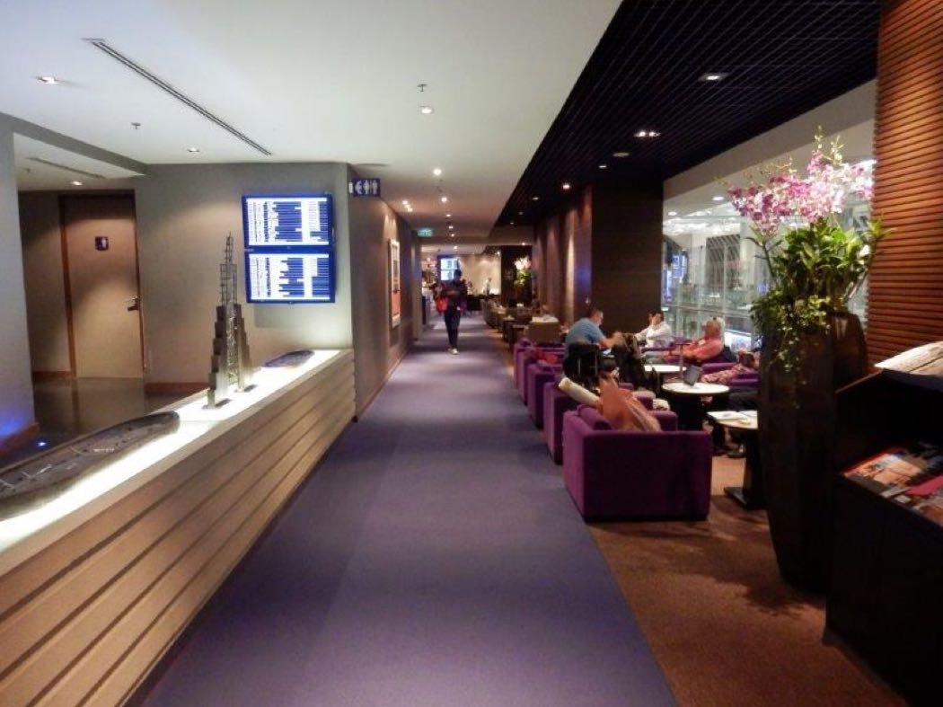 Thai Airways Royal Silk Business Class Lounge Review, Bangkok Airport