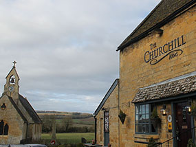 1 night with Dinner at The Churchill Arms, Cotswolds