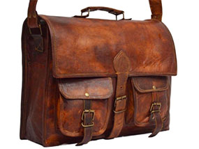 Vintage Leather Laptop Bag RRP£89