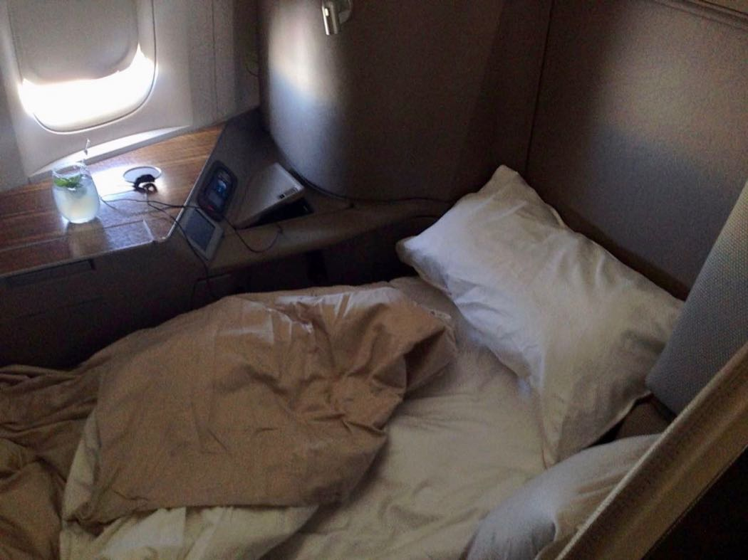 Review: Cathay Pacific First Class On Boeing 777-300 JFK to HKG