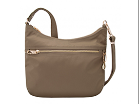 Travelon Anti-Theft Tailored Hobo Bag in Sable RRP $70