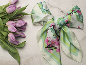 Your choice of stunning L.E.A.F. Silk Scarf RRP €195