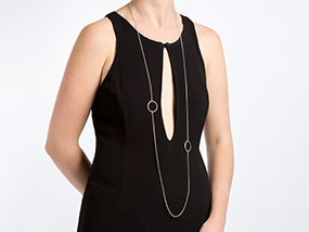 Mimi George Single Circles 51 inch Full-Length Necklace RRP £195