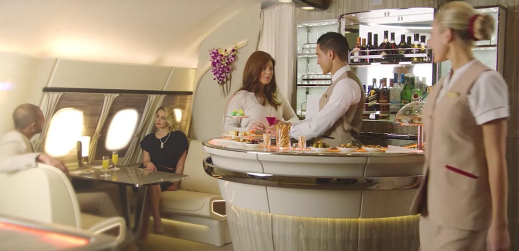 Revealed: New Emirates On-Board Lounge For The Airbus A380