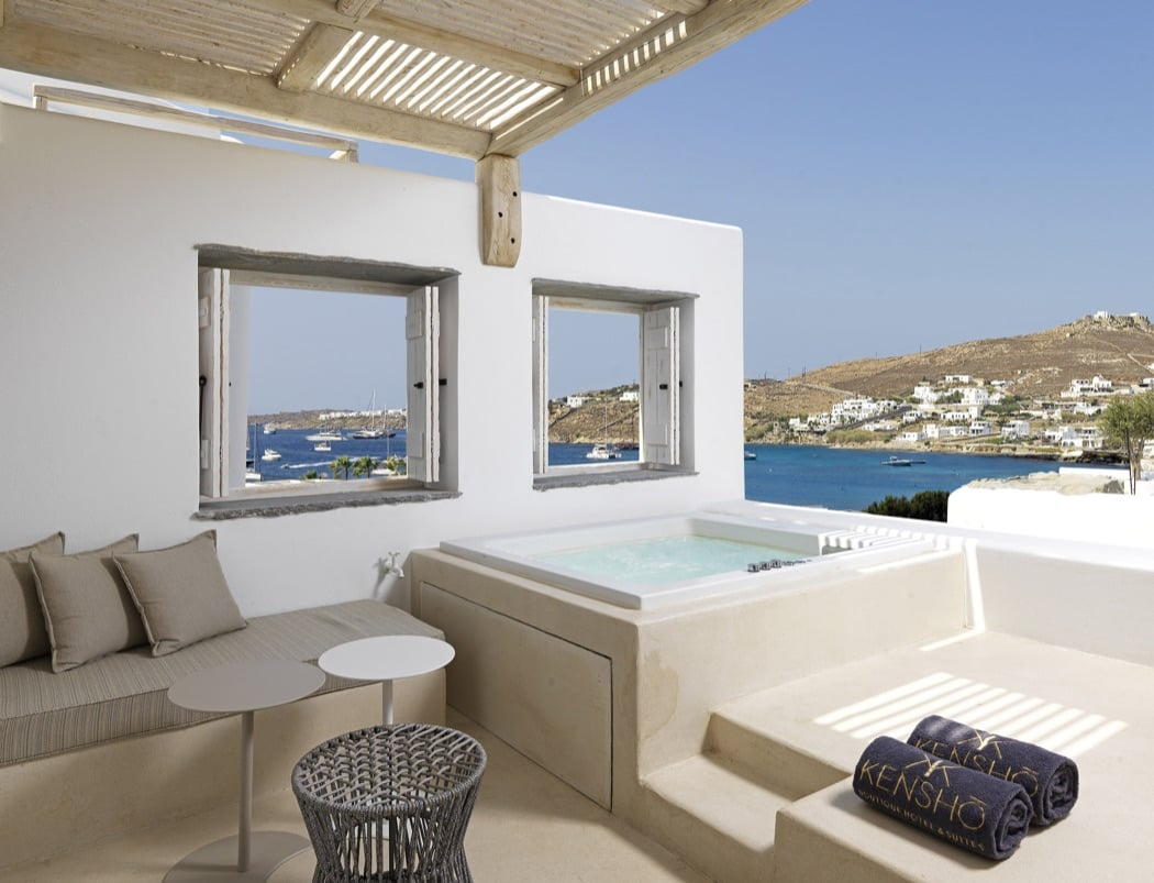Review kensho boutique hotel suites mykonos hotels for Boutique hotel