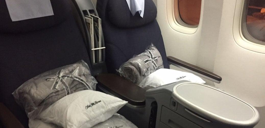 United Polaris 777-200 Business Class Cabin Review EWR To GRU