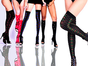 7 Pairs of Stylish TRAMPS Fashion Compression Hosiery