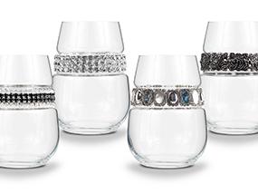 12 Stemless Wine Glasses with Unique Bracelet RRP $312