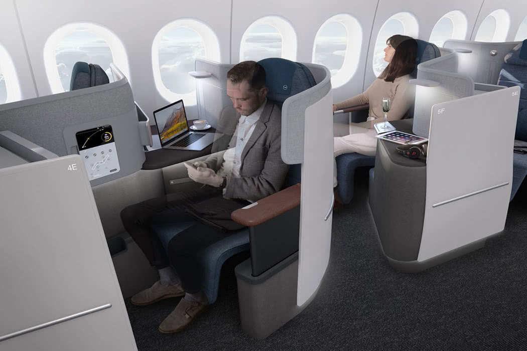 Pictures Released Of New Lufthansa Business Class Seat