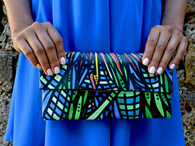 ART TO WEAR Collection King of Paradise Envelope Clutch Bag