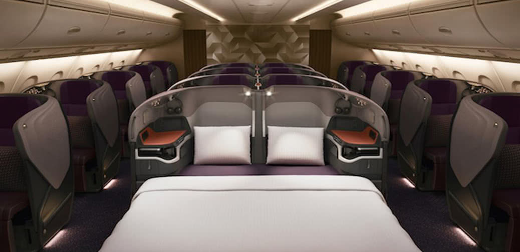 Double Beds In Business Class On Singapore Airlines