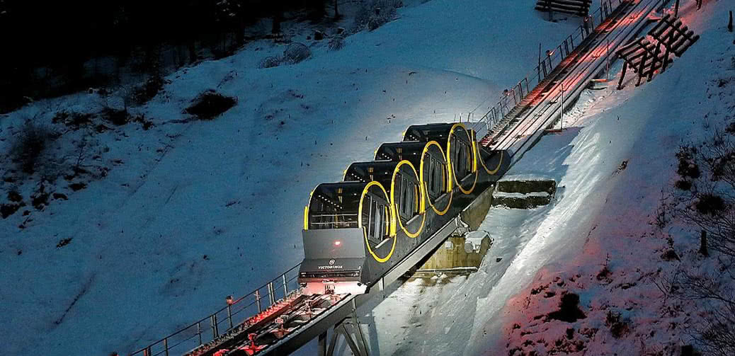 Step Inside The World's Steepest Funicular Railway