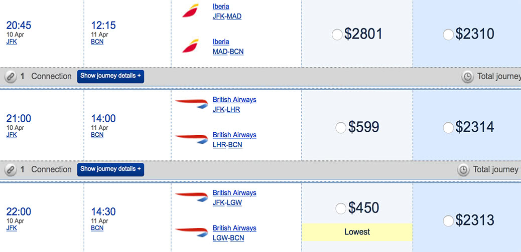 Cheap British Airways Premium Economy Deal: US to Europe From $450
