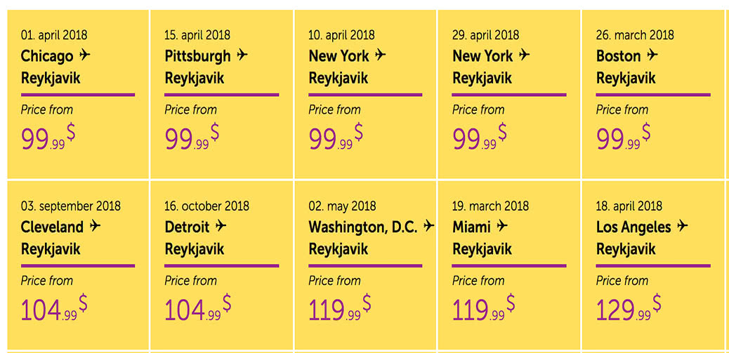 Urgent Sale! Fly USA To Europe For $99