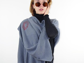 Cashmere Rebel XL Chunky Knitted Travel Wrap KISS