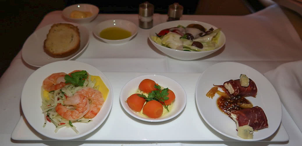 Review: Lufthansa First Class Food Menu